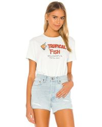 RE/DONE 70s Tropical Fish Tシャツ - ホワイト