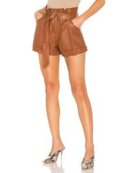 Marissa Webb Dixon Leather Paper Bag Short - Brown