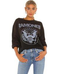 MadeWorn Ramones スウェットシャツ - ブラック