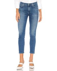 Citizens of Humanity Rocket crop sculpt mid rise skinny talla 23 - Azul