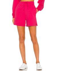 Frankie's Bikinis Burl Sweat Short - Pink