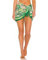 Solid & Striped Парео В Цвете Принт Пальмовые Листья - Зеленый
