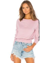 Michael Stars - Athletic Stripes Pullover In Mauve. - Lyst