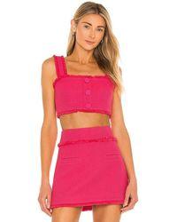 Alexis Savoy Light Jacquard Top - Pink