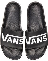 Vans - Slide On () Black Flip Flops - Lyst