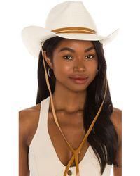 Rag & Bone Ohara Straw Cowboy Hat В Цвете Натуральный - Естественный