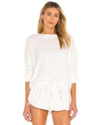 Mikoh Swimwear Свитшот Kimo В Цвете Серовато-бежевый - Белый