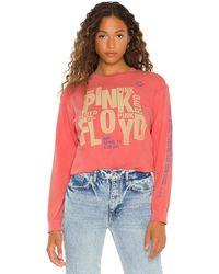 Daydreamer Pink Floyd New York オーバーサイズロングスリーブtシャツ - ピンク