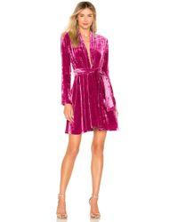 A.L.C. - Kiera Velvet Belted Dress - Lyst
