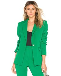 MILLY - Stretch Crepe Fitted Blazer - Lyst