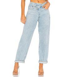 Agolde Criss Cross Upsized Jean - Blue