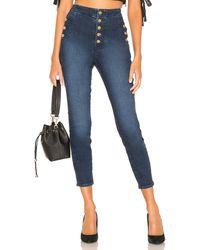J Brand Natasha Sky High Crop Skinny. Size 28,29,30. - Blau