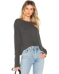 The Great The Long Sleeve Crop Tシャツ - ブラック