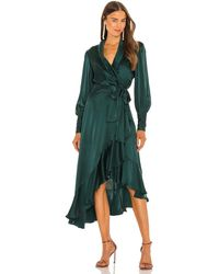 Zimmermann Платье В Цвете Нефрит - Зеленый