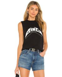 Anine Bing Lennon Tシャツ - ブラック