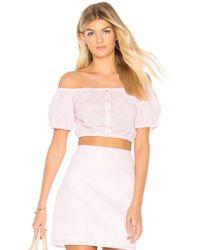 MINKPINK - Gables Off Shoulder Top In Pink - Lyst