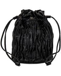 Ganni Сумка-мешок В Цвете Черный