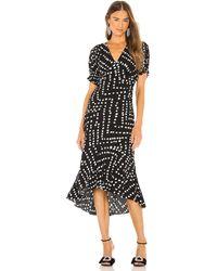 Diane von Furstenberg Orla ラップドレス - ブラック