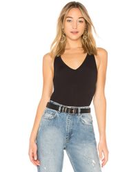 David Lerner - V Neck Tank In Black - Lyst