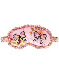 LoveShackFancy Маска Для Глаз Bow В Цвете Перец Гвоздичный - Розовый