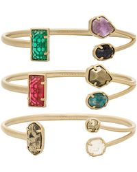 Kendra Scott - Cammy Pinch Bracelet Set - Lyst