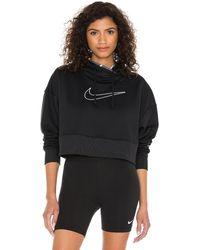 Nike Thermal Crop Sweatshirt - Schwarz