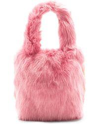 Charlotte Simone Pop Faux Fur Tote - Pink