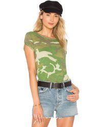 Free People - Camo Clare Tee - Lyst