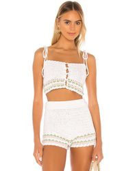 Lovers + Friends Mes Amis Crochet - White