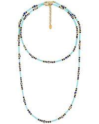 Elizabeth Cole Ожерелье Polly В Цвете Бирюзовый - Многоцветный