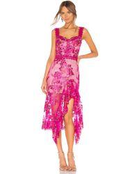 Bronx and Banco Платье Миди Eva В Цвете Фуксия - Розовый