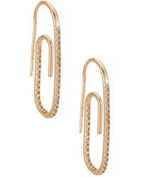 8 Other Reasons Paper Clip Earring - Metallic