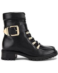 Schutz Buckle Tractor Boot - Black