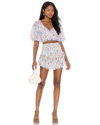 Saylor Teryn Skirt And Top Set - White