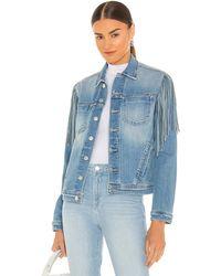 L'Agence Celine Slim Fringe Jacket - Blau