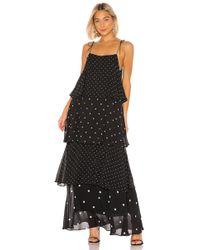 Anine Bing Макси Платье Daisy В Цвете Black & White - Black. Размер M (также В S). - Черный
