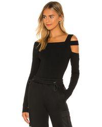 h:ours Milee Long Sleeve Top - Black