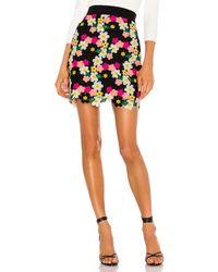 MILLY Floral Crochet Mini Skirt - Schwarz