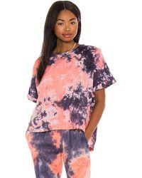Cali Dreaming Camiseta en color pink,blue talla XS en Sunset Tie Dye - Pink,Blue. Talla XS (también en S). - Multicolor