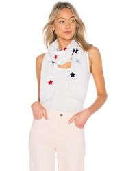 Michael Stars - Textured Star Scarf In White. - Lyst