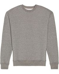John Elliott Übergroßer Rundhals-Pullover - Grau