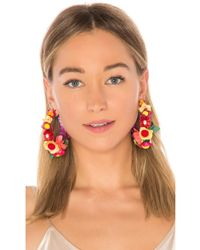 Ranjana Khan - Floral Hoop Earring - Lyst