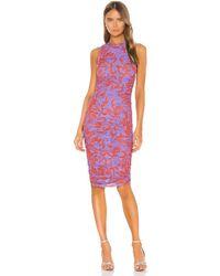 Miaou Платье Миди Suz В Цвете Hawaiian Lavender Red - Пурпурный
