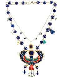 Mercedes Salazar Eagle Pendant Necklace - Blue