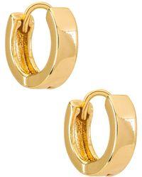 Natalie B. Jewelry Marga ハギーフープイヤリング - メタリック