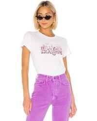 RE/DONE Los Angeles グラフィックtシャツ - ホワイト