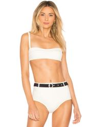 Solid & Striped - The Quinn Bikini Top In Cream - Lyst