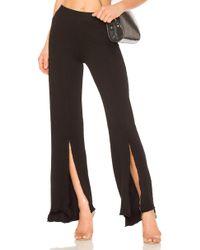 Lanston - Slit Front Pant In Black - Lyst