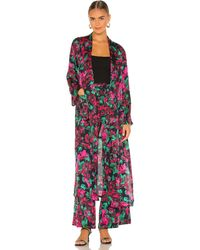 MISA Los Angles - Malini ローブ In Pink,black. Size S, M. - Lyst