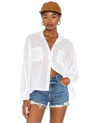 Enza Costa Рубашка Voile Handkerchief В Цвете Белый